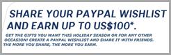 PayPal WishList - Free - Earn $100