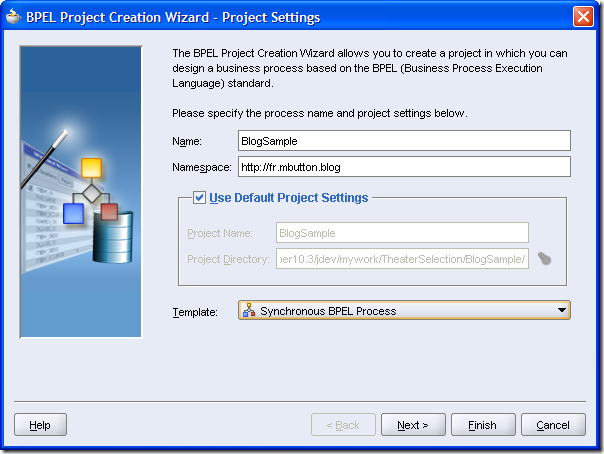 BPEL Process creation