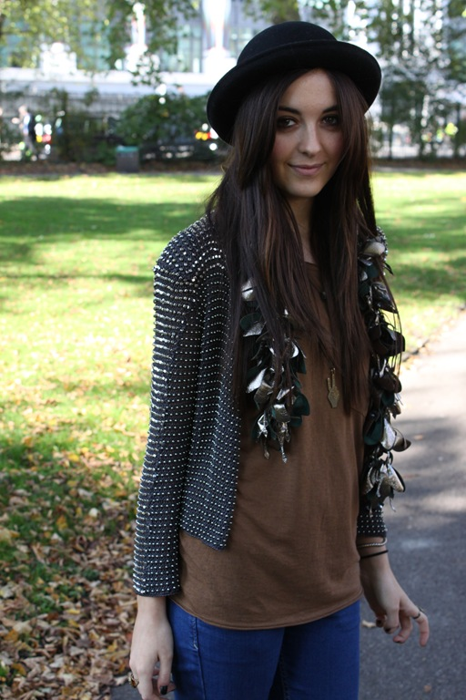ASOS Marketplace image of a girl wearing a Natalie Brown Necklace