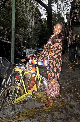 Fairground wrap, shot streetstlye in New York.