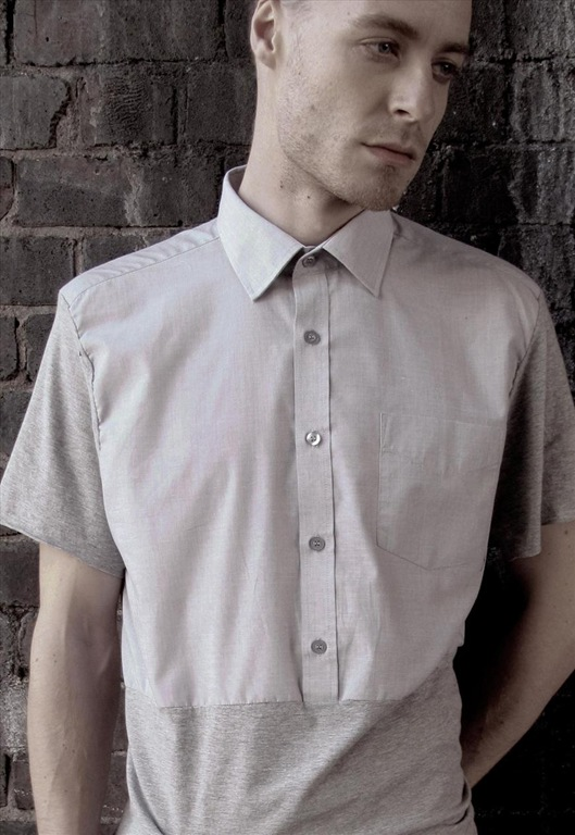 'Chesney' Deconstructed Shirt by ermerging designer Kevin Broni and his line, Lost Faith and Revelry