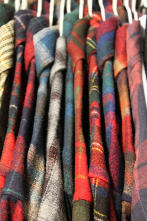 Rails and rails and rails of beautiful Pendleton shirts...