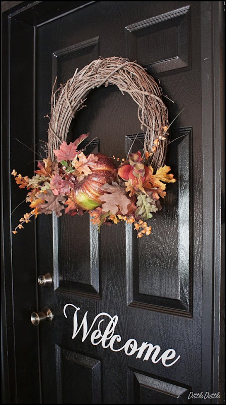 Fall Decorated Back Door