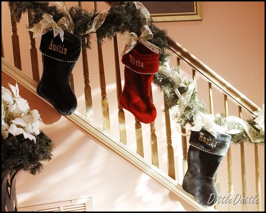 stockings hung by the stairwell