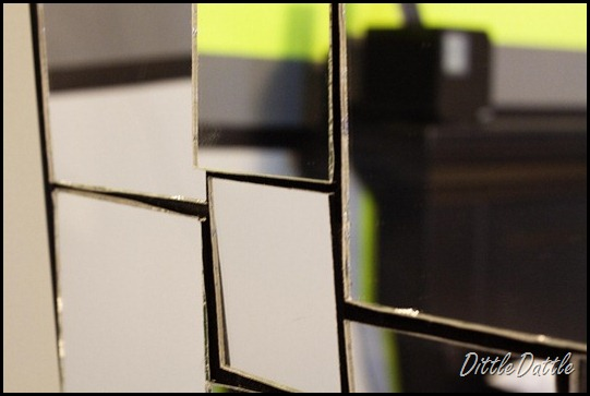 DIY Mirror Frame Art - closeup