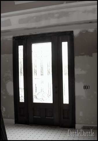Old door casing in Black & white