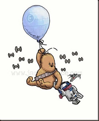 Wookie the Pooh and R2D2let