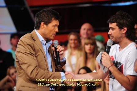 Tinelli Y Peter Pactan El Amistoso Del Futbol.jpg