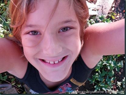 My kiddo in the garden