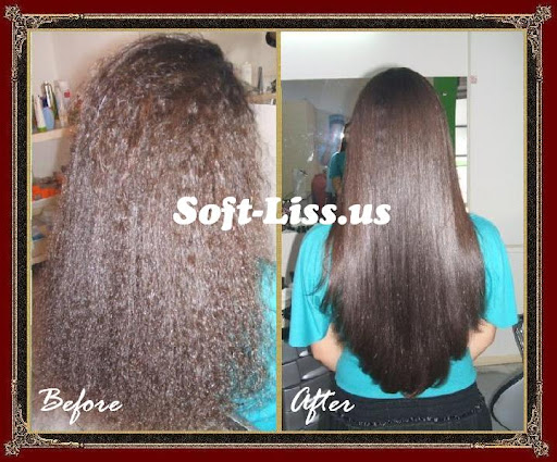 Photo Brazilian Blowout Hair - Before and After/Brazilian Keratin Hair