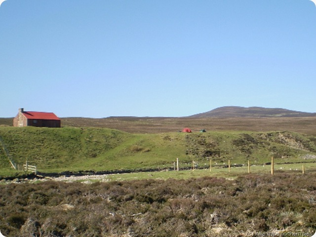 red bothy  blue skies and challenge tents