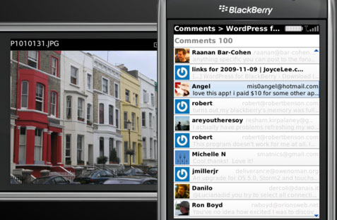 art WordPress for BlackBerry