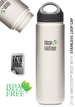 Klean Kanteen Stainless Steel Wide Mouth Water Bottle