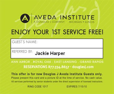 Coupons aveda products