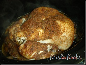 Krista Kooks Spice Rubbed Chicken in Crockpot 2