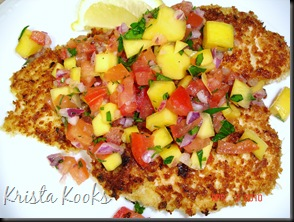 Brazilian Chicken Cutlets with Raw Tropical Sauce Krista Kooks 4