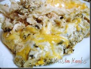 Krista Kooks Salsa Verde Sour Cream Enchiladas 6