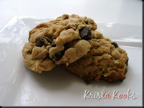 Krista Kooks Peanut Butter Oatmeal Chocolate Chip Cookies