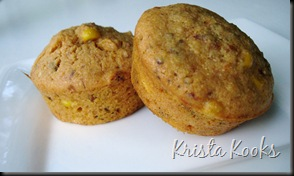 Garlic and Sun-Dried Tomato Corn Muffin Krista Kooks