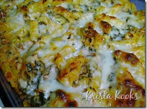 Krista Kooks: Low Fat Baked Ziti with Spinach