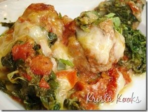 Krista Kooks Gluten Free Meatball and Spinach No-Sagna 3