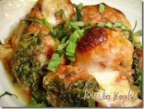 Krista Kooks Gluten Free Meatball and Spinach No-Sagna