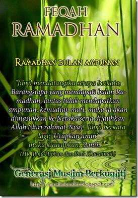 Ramadhan bulan ampunan