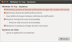 Thunderbird minimizado al area de notificación