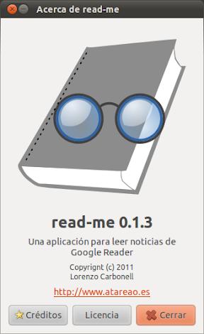 Google Reader en tu escritorio de Ubuntu gracias a read-me