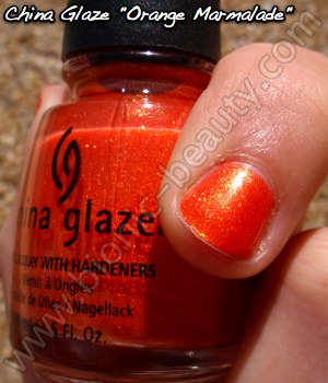 China Glaze Summer Days 2009 nail polish in Orange Marmalade