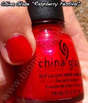 China Glaze Summer Days 2009 nail polish in Raspberry Festival