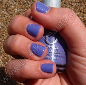 Orly's Prepster Collection nail polish swatch in Cashmere Cardigan