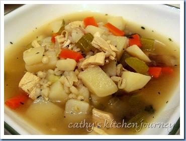 chix vege barley soup