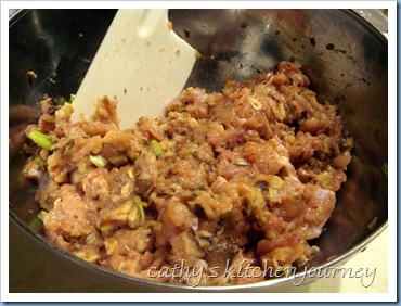 ground chicken mushroom mixture
