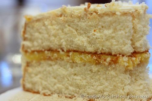 vanilla cake lemon curd
