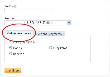 online purchase in paypal