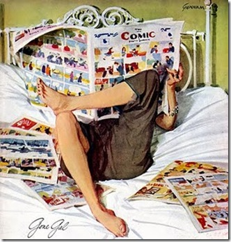 vintage_woman_reading_comic