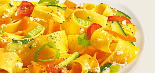 Pappardelle con ricotta e verdure