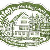 """Aufkleber - """"Waldschloss"""" Zinten"""