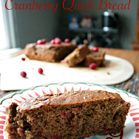 Vegan Cranberry Quick Bread