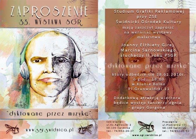Zaproszenie na 33. wystawę sgr (autor: Marcin Sarnowski)