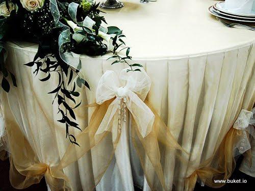 Украшения из органзы своими руками на свадьбу 64