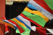 Prayer flags at the Lama temple, Beijing, China