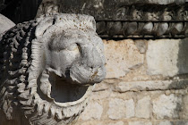 Lion head at the entry of Didyma ruins, Turkey