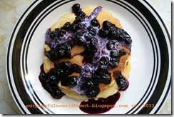 ww pancakes w blueberry compote