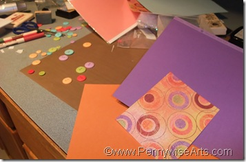 3. Select coordinating cardstock