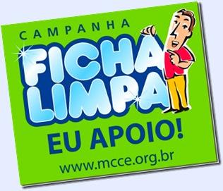 Projeto Ficha Limpa - Apoie também