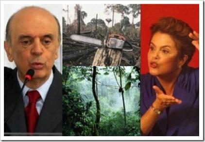 Serra e Dilma - vamos exigir o compromisso ambiental