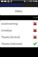 Screenshot of Pocket Polyglot Slovak