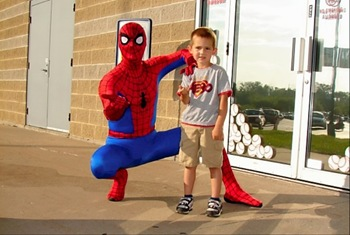 Treyton and Spiderman